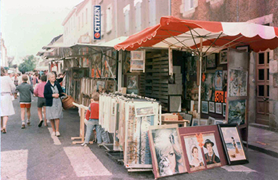 stand la maison du canevas sur les marchés en 1976