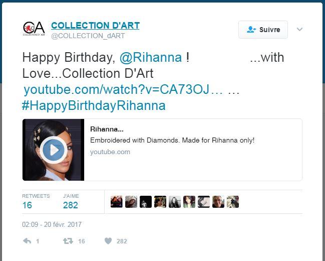 broderie diamant Rihanna