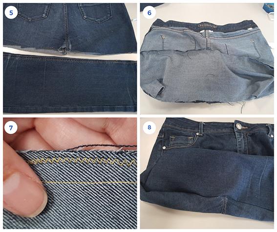 Etape 2 le fond du sac en jean